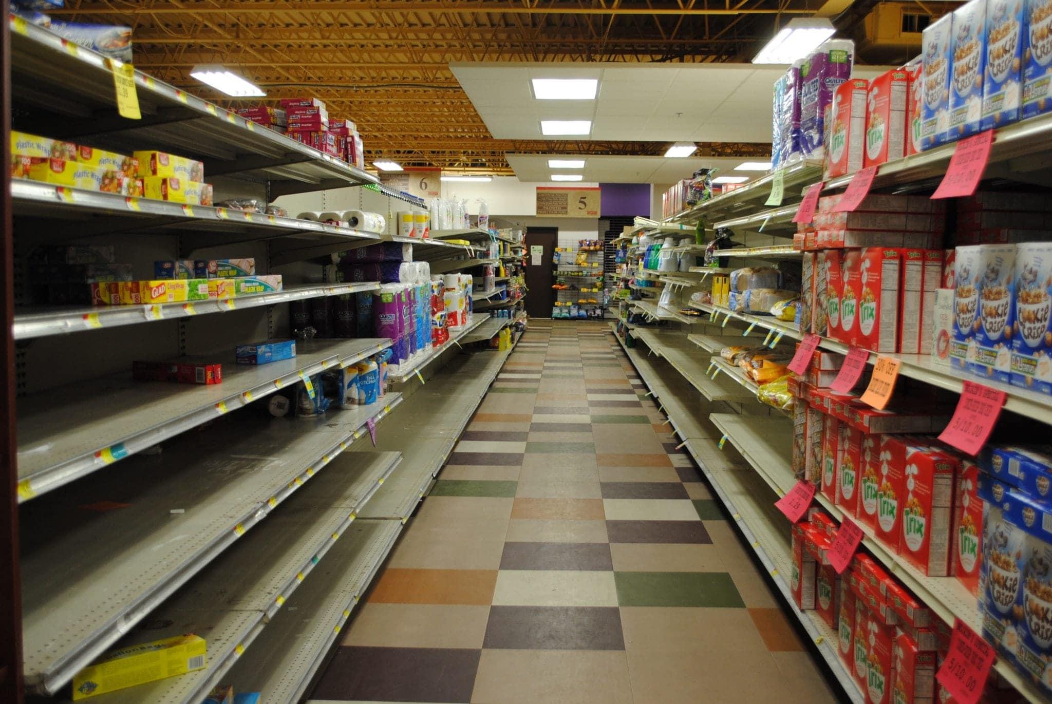 Shelves at Nojaims