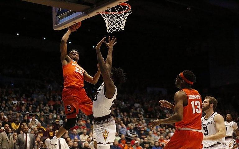 SU Men's Basketball win over Arizona State in Dayton, Ohio
