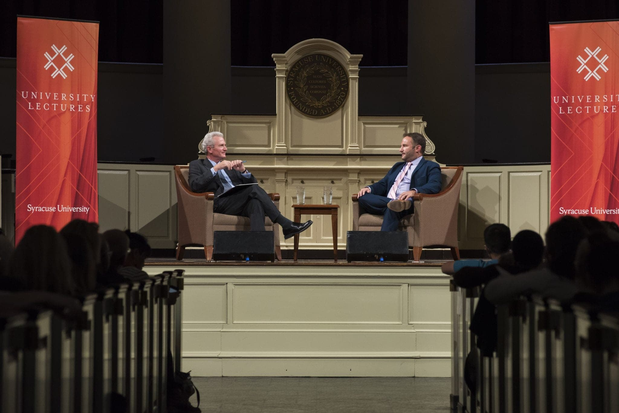 David Greene spoke at Hendrick's Chapel at Syracuse University on Tuesday night.