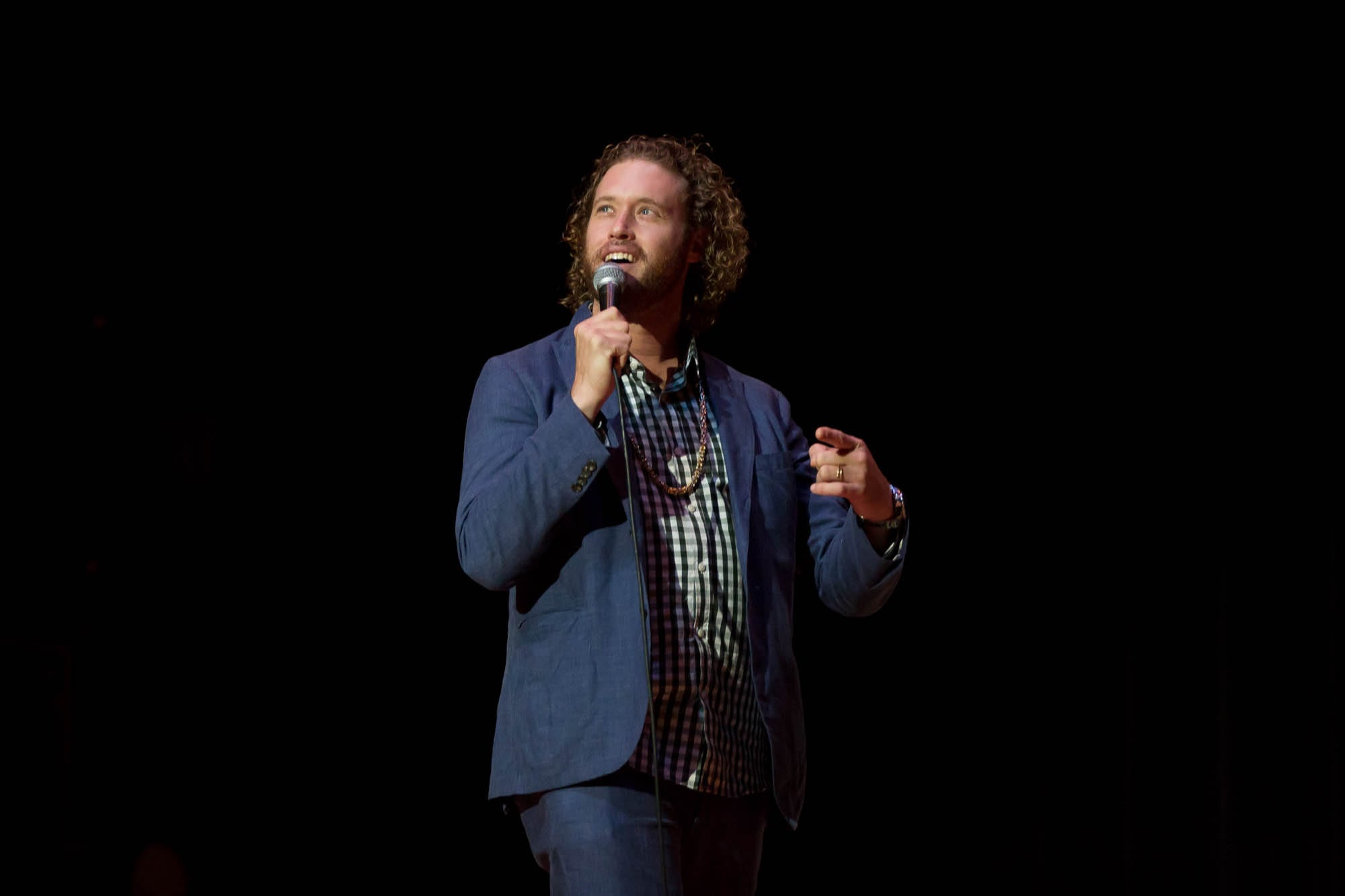 T.J. Miller at Syracuse University Homecoming