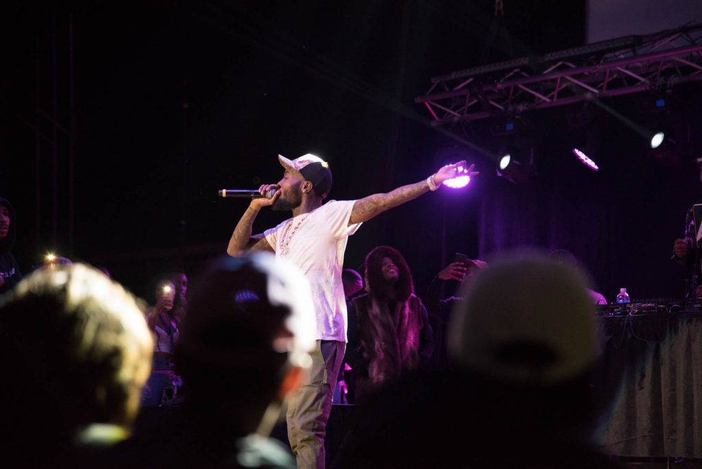 Rapper GoldLink performs at Syracuse University
