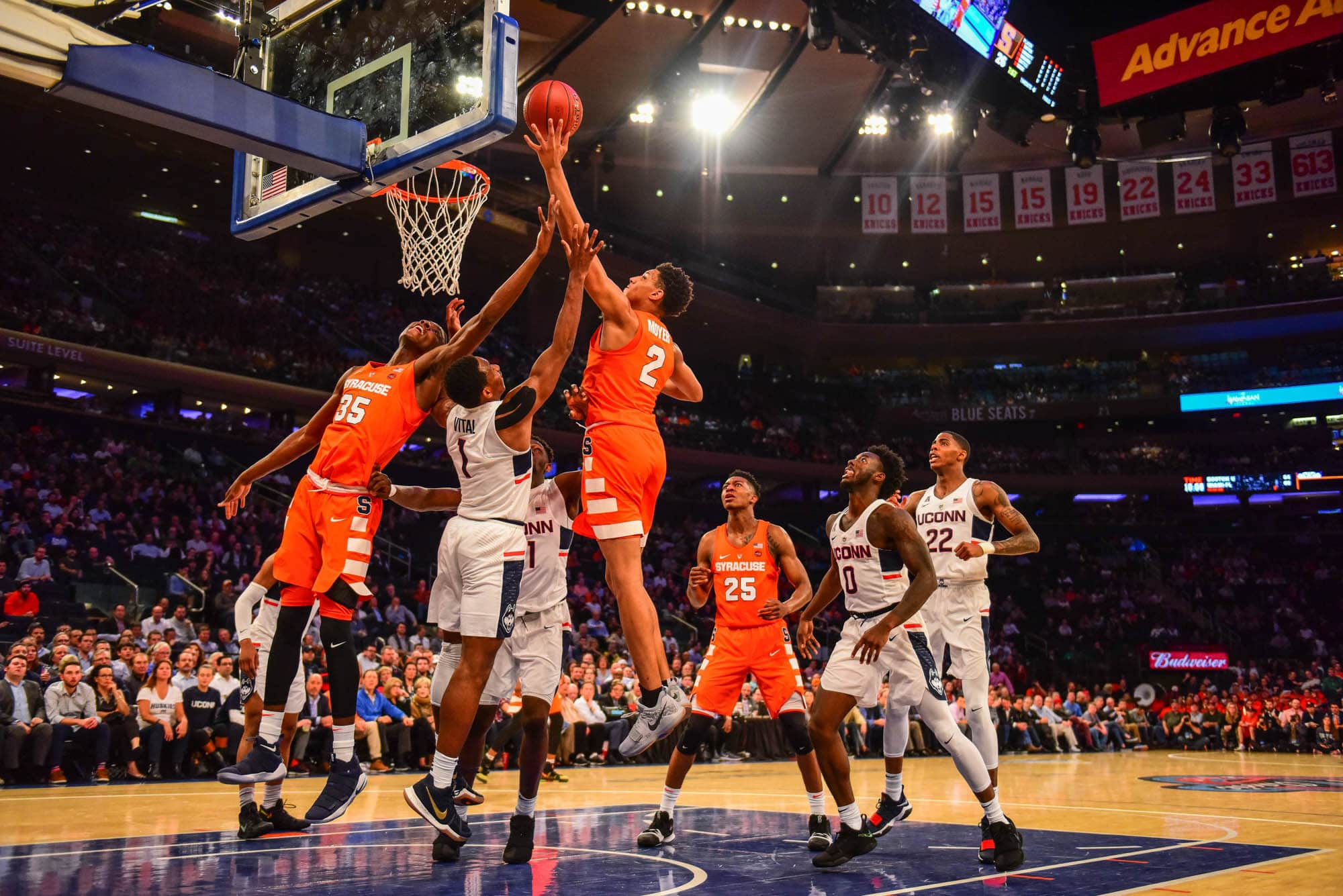 Syracuse vs. Connecticut on Dec. 5, 2017 at Madison Square Garden, New York City