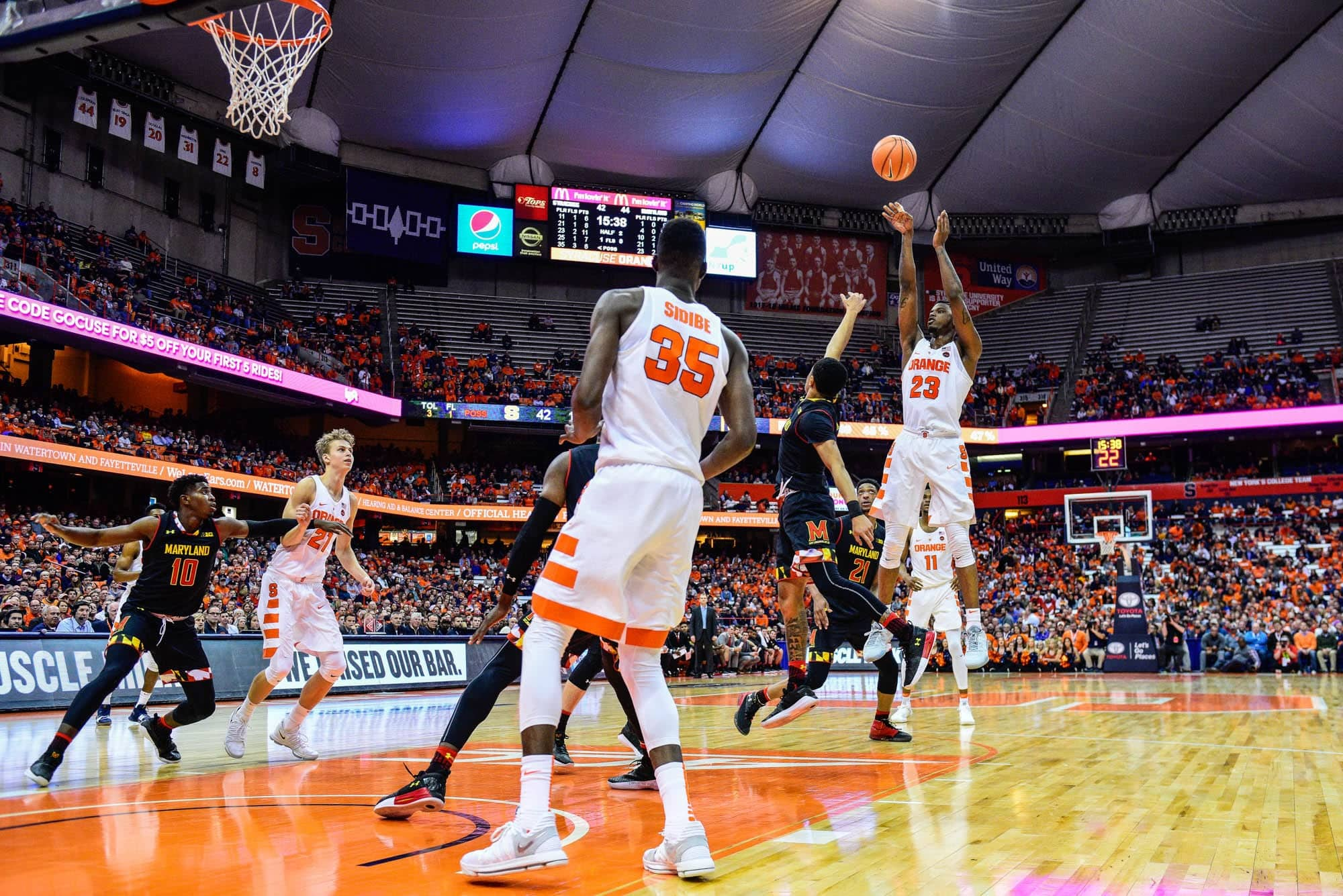 Men's basketball versus Maryland