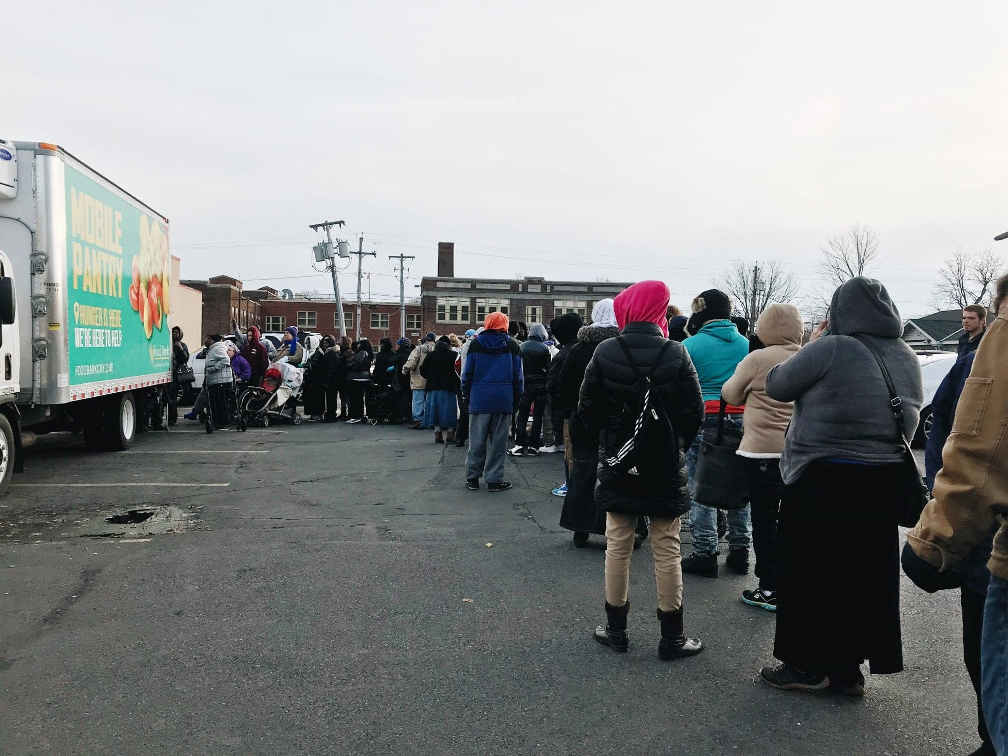 Residents at CNY Food Bank's Mobile Pantry