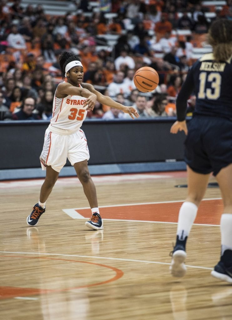 Syracuse women's basketball against Pitt