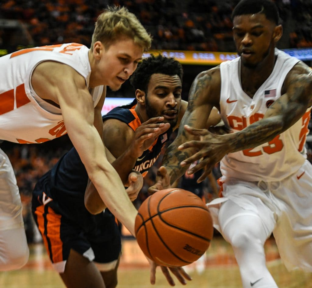 arek Dolezaj and Frank Howard of Syracuse Men's Basketball
