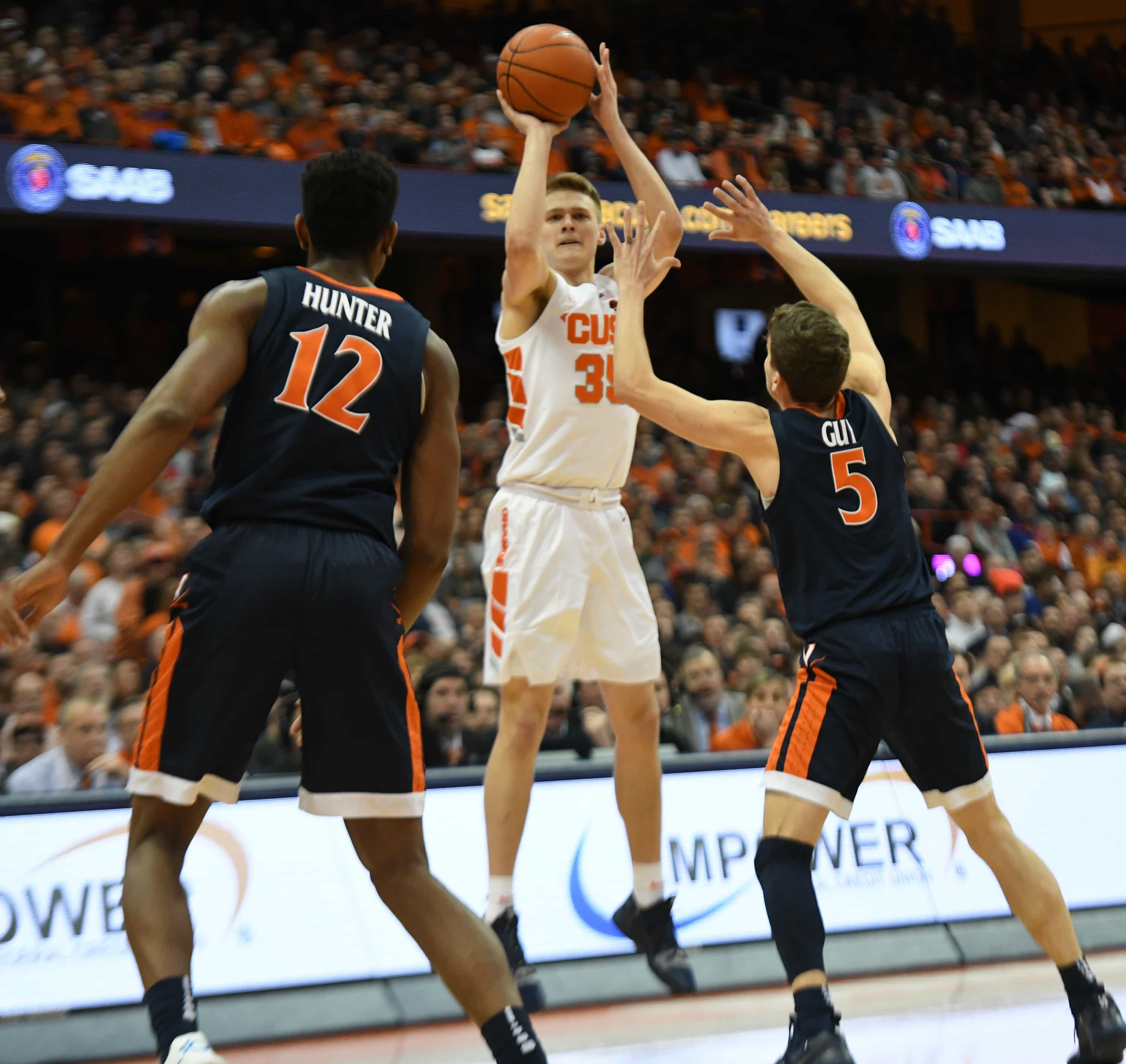 Buddy Boeheim of Syracuse Men's Basketball vs. Virginia