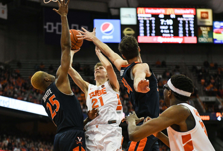 Marek Dolezaj of Syracuse Men's Basketball vs. Virginia