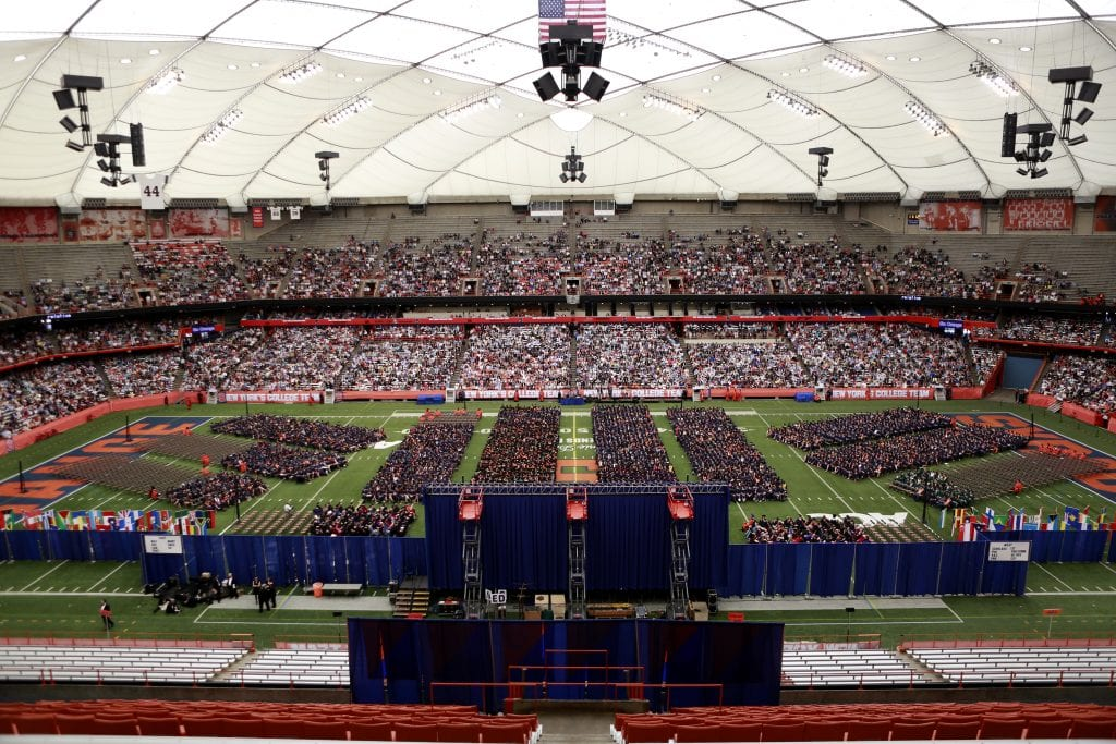 2014 SU Commencement in the Carrier Dome