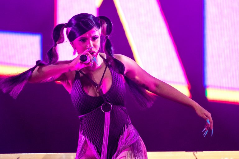 "Cardi B performs during Live Nation's ""Femme It Forward"" show at the Lakeview Amphitheater on Sept. 7, 2019"