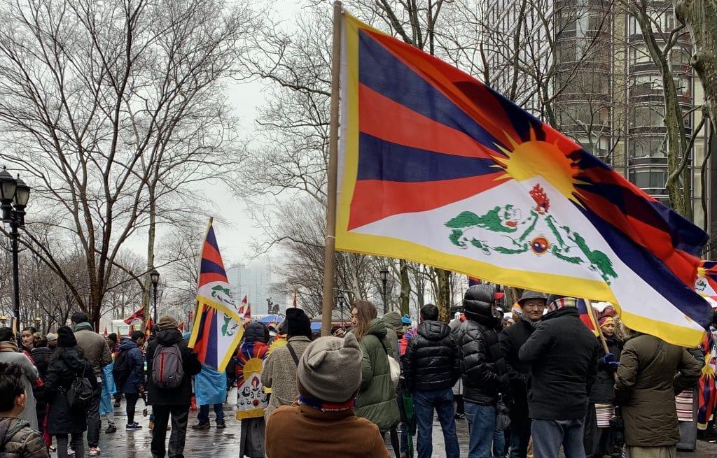 Tibetan-Americans Rally in New York City.