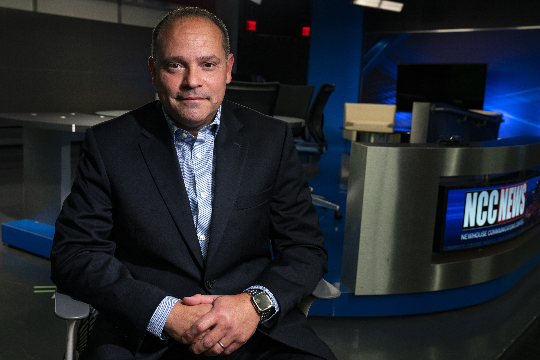 TV reporter and Syracuse University alum Marcus Solis portrait on Oct. 22, 2019.