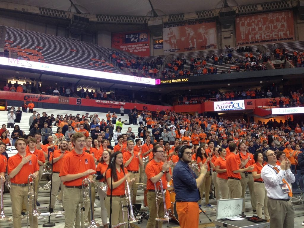 SU Student Section at Carrier Dome on Nov. 20, 2019.