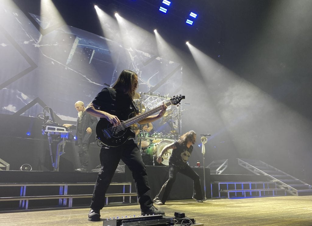 Bassist John Myung plays during Dream Theater's Nov. 9, 2019 concert in Syracuse.