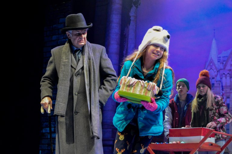 """A Syracuse Christmas Carol"" at the Redhouse theater in December 2019"