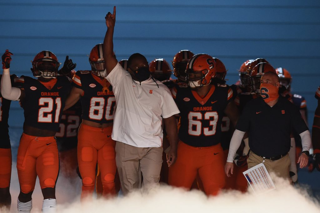 The Syracuse football team takes on the Boston College Golden Eagles