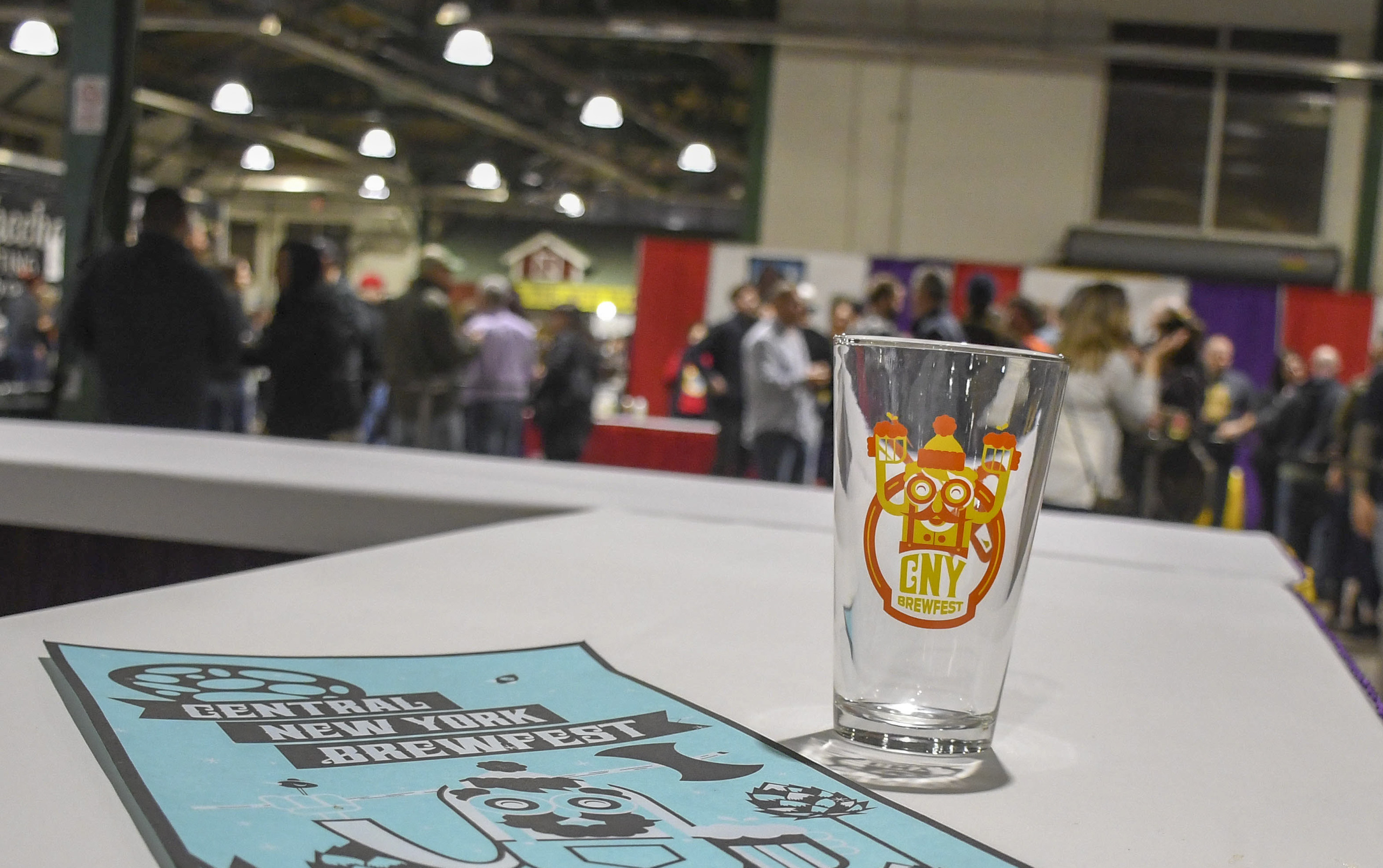 The designer beer glass and poster for the 24th Annual Central New York Brewfest.