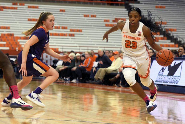 SU Orange Women's Basketball defeat Clemson Tigers