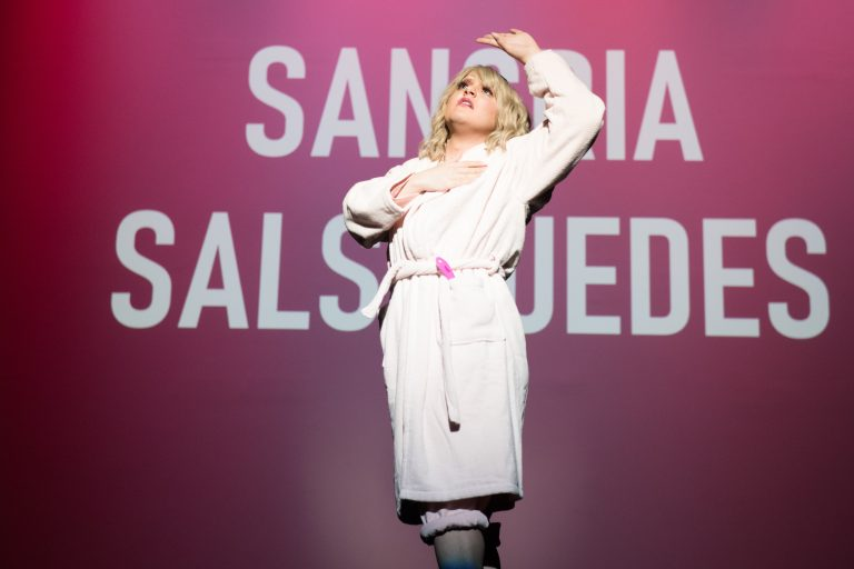 Daniel Preciado, performing as Sangria Salsipuedes, was one of the four finalists to perform at Syracuse University's 18th annual Drag Show finals on Thursday, February 20th. Sangria Salsipuedes' winning performance featured a mashup of clips from the movie, Legally Blond, and songs.