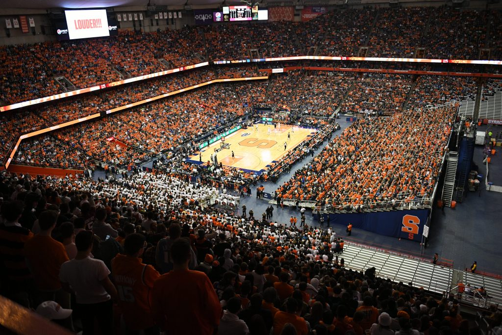31,458 people attended the game at the Carrier Dome making it the largest on-campus crowd in the country this season.