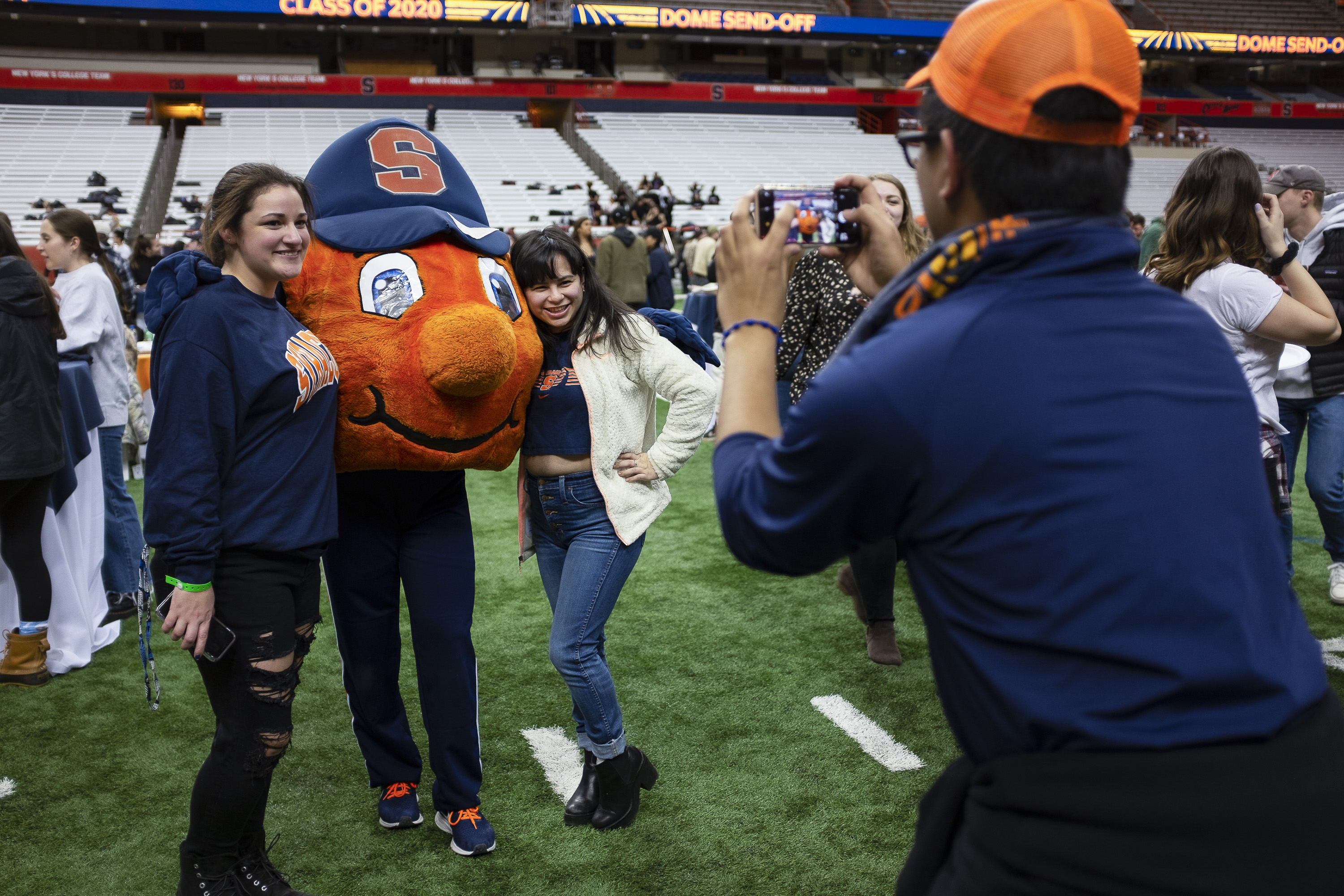 Students had the oppurtunity to mingle with another and with Otto the Orange.