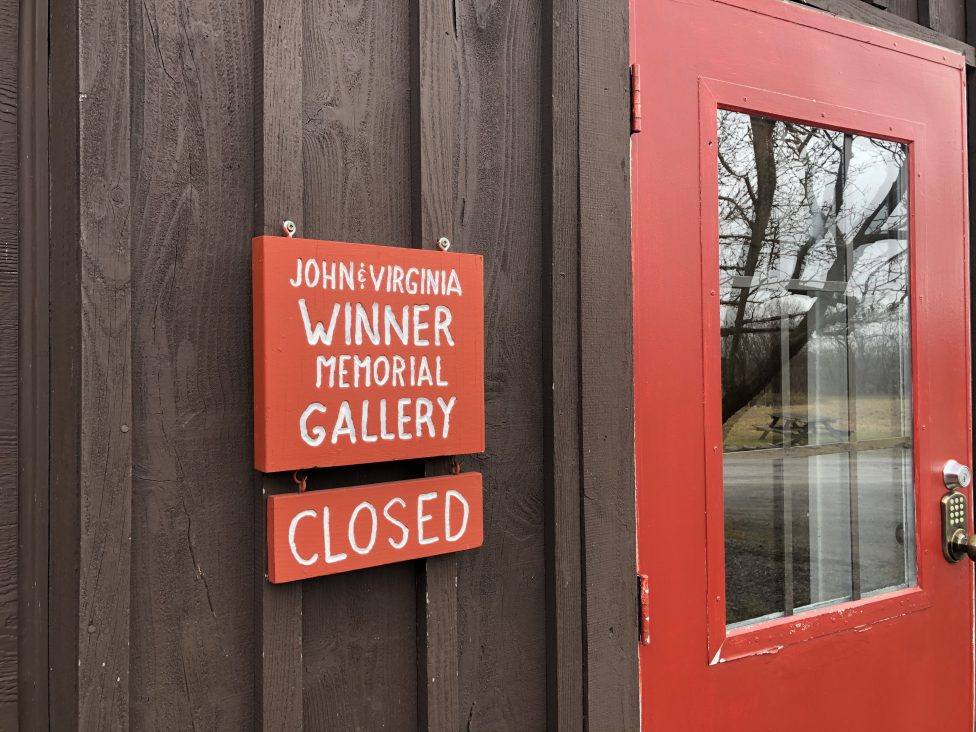 Closed gallery at Cazenovia's Stone Quarry Hill Art Park