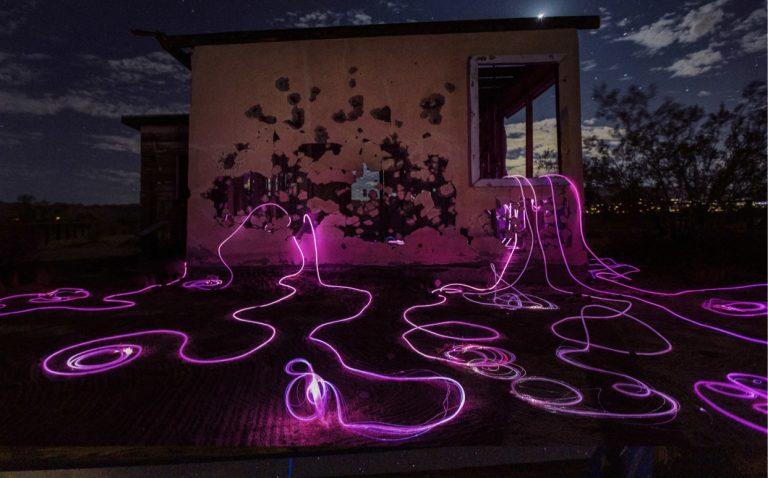 Light installation created by Annie Mitchell