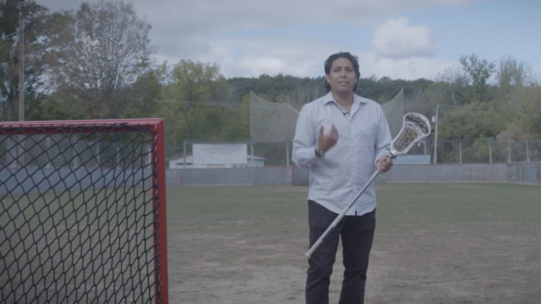 A preview shot from the upcoming lacrosse documentary Second Growth.