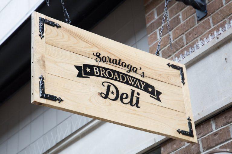 Saratoga Broadway sign