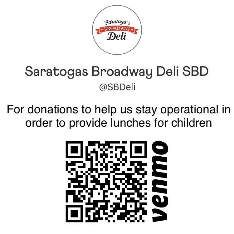 QR code to donate through Venmo