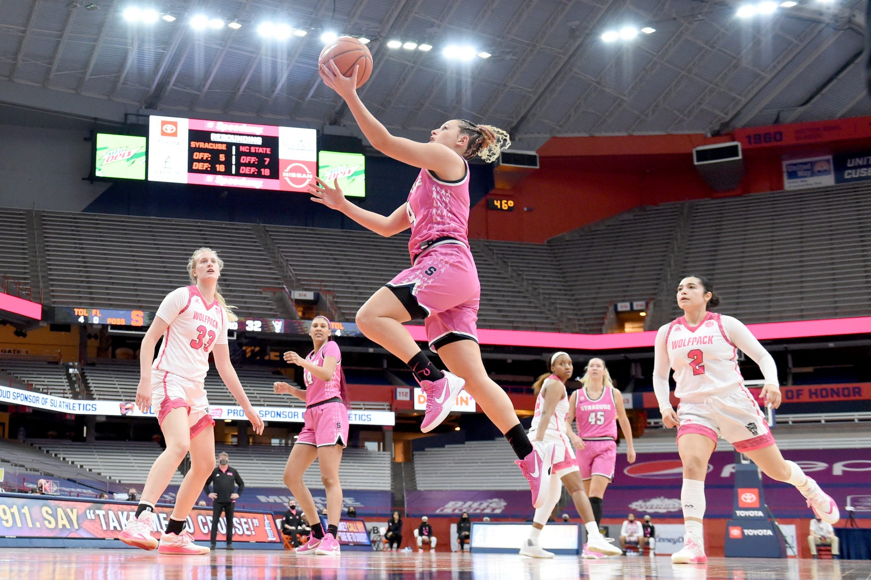 The Syracuse women's basketball team take on N.C. State at the Carrier Dome in Syracuse, N.Y. Feb 28, 2021