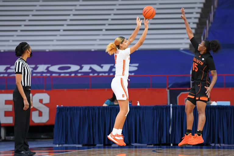 NCAA Womens Basketball: Miami-Florida at Syracuse