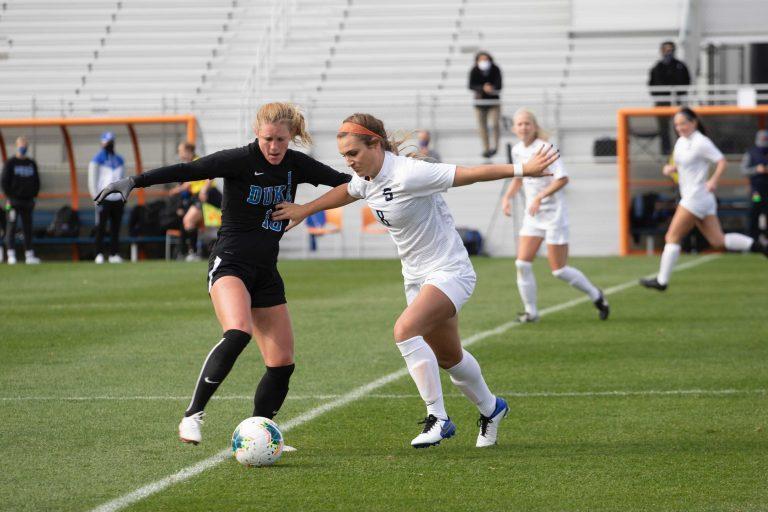 SU Women's Soccer vs. Duke on Oct. 18, 2020, as SU Soccer Stadium.