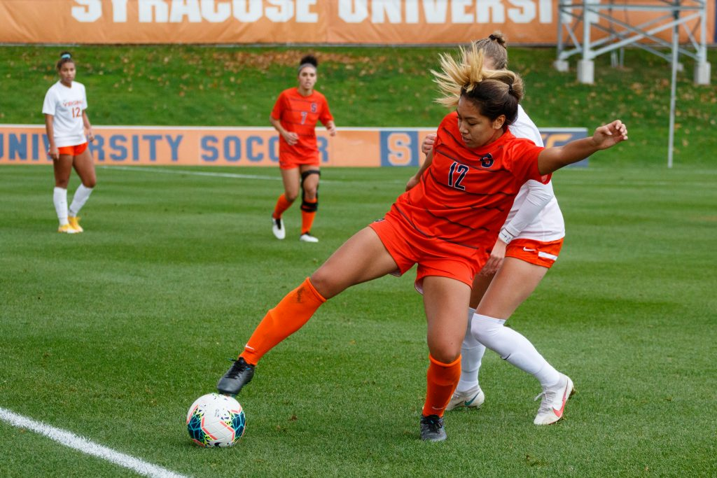 Syracuse women's soccer vs. Virginia on Nov. 1, 2020