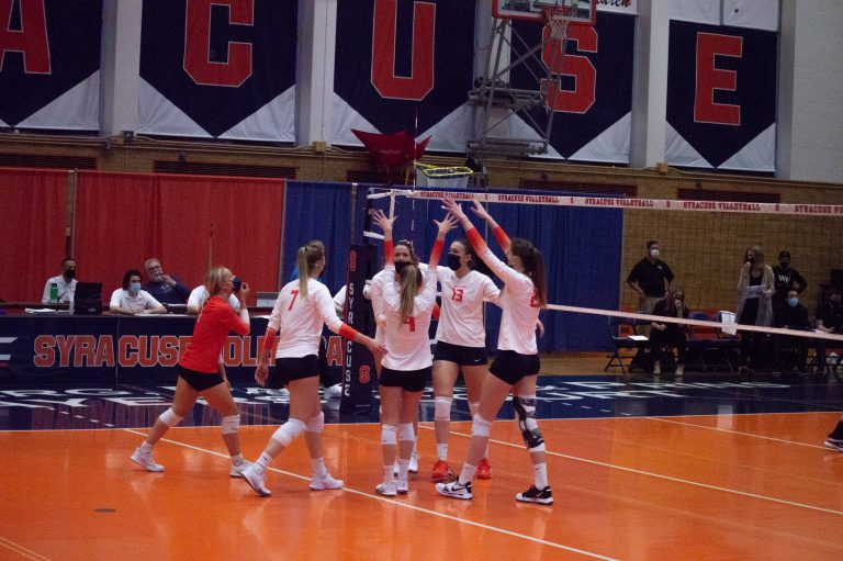 Syracuse Volleyball wins 3-0 against Wake Forest.