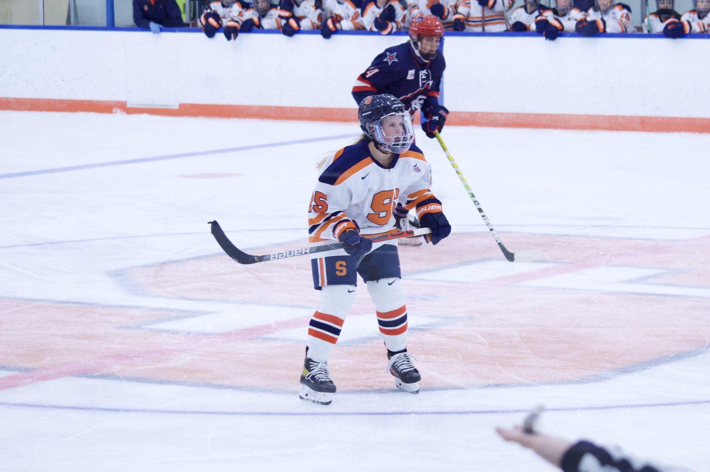 Hannah Johnson of Syracuse Women's Ice Hockey vs. Robert Morris