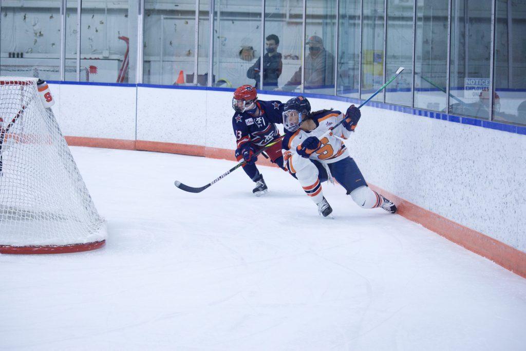 Jessica DiGirolamo of Syracuse Women's Ice Hockey vs. Robert Morris
