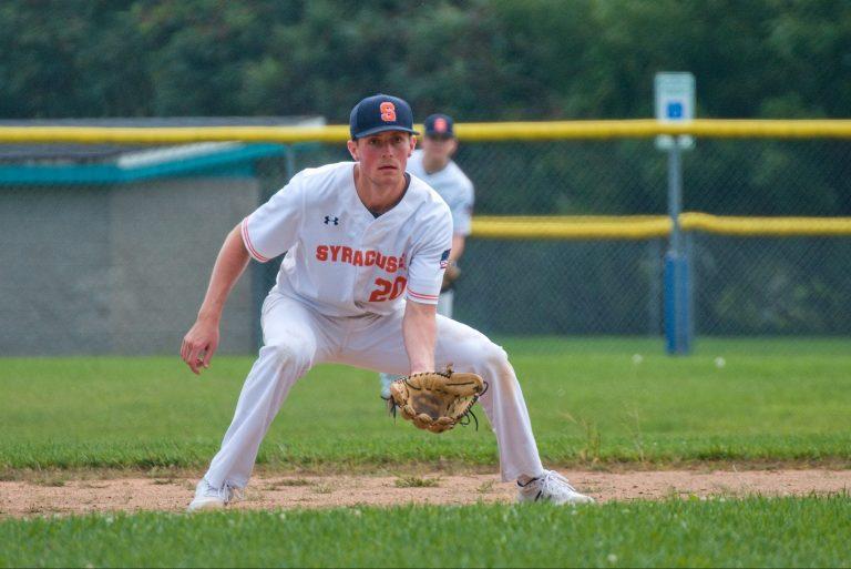 Syracuse Club Baseball player