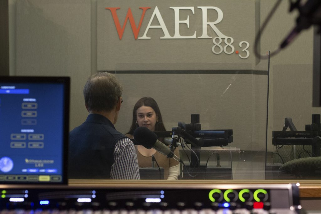 Sydney Gold discusses her story about lead poisoning in Syracuse for WAER on Tuesday, April 20, 2021.