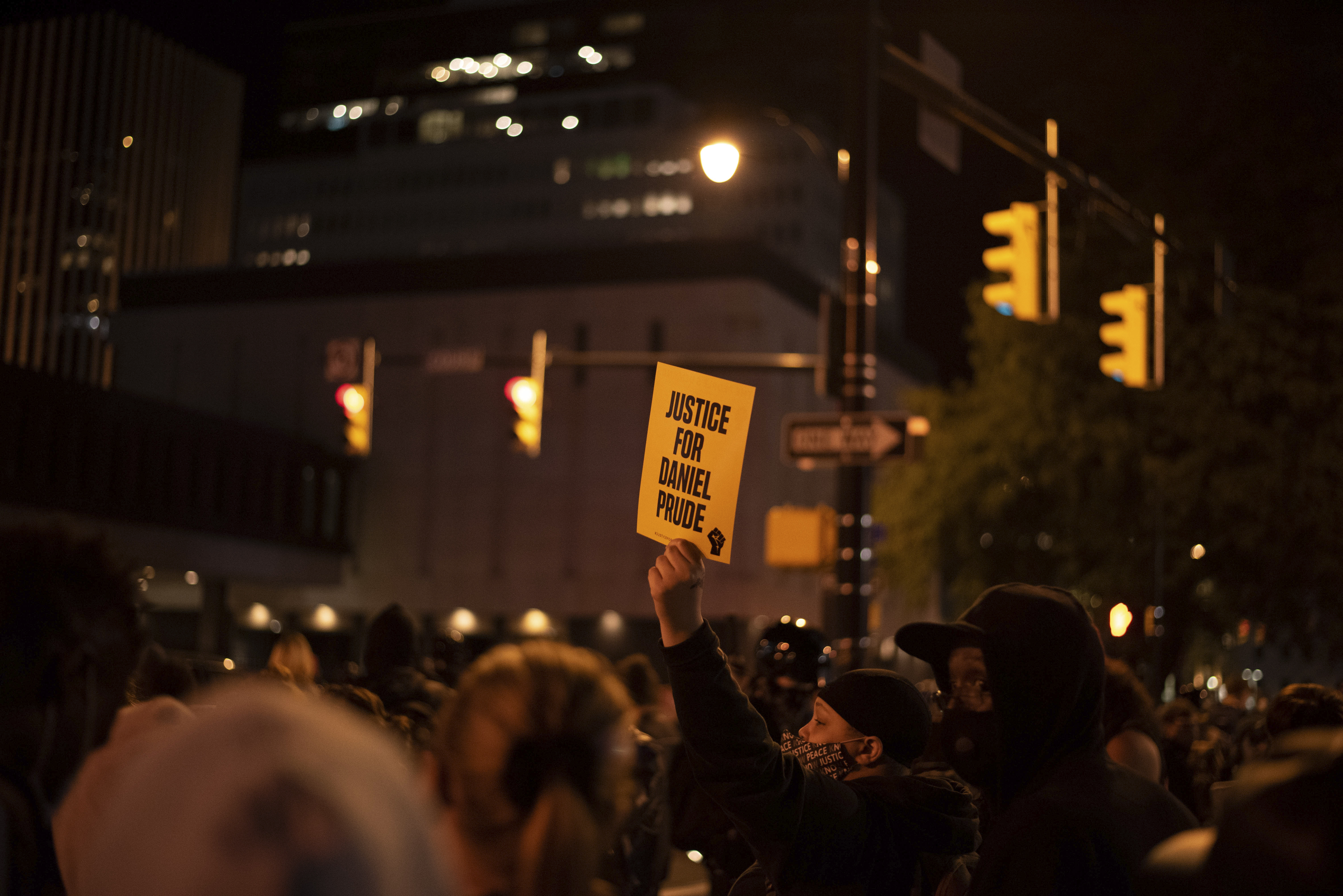 Hundreds showed up to protest the unlawful treatment of POC by police following the death of Daniel Prude who died in police custody March 23rd. Rochester, NY.