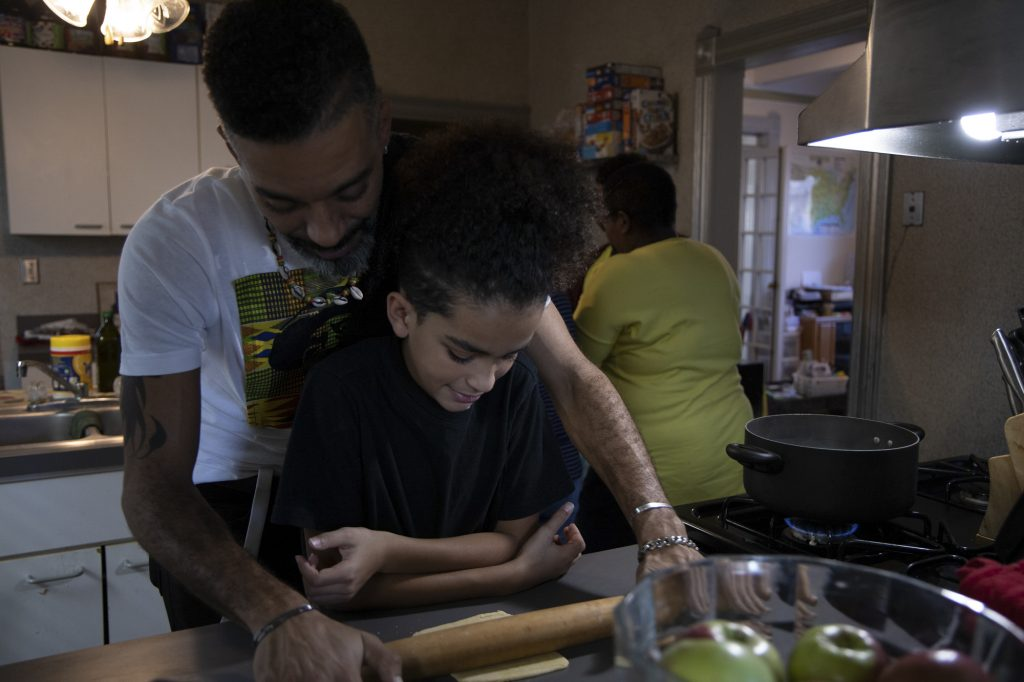 Javonte King learns how to make hand-made pasta. Joshua takes care of his two younger brothers, Javante and Jayden since their father died. King piloted The Academy of Excellence with his two younger brothers in addition to their other schoolwork.