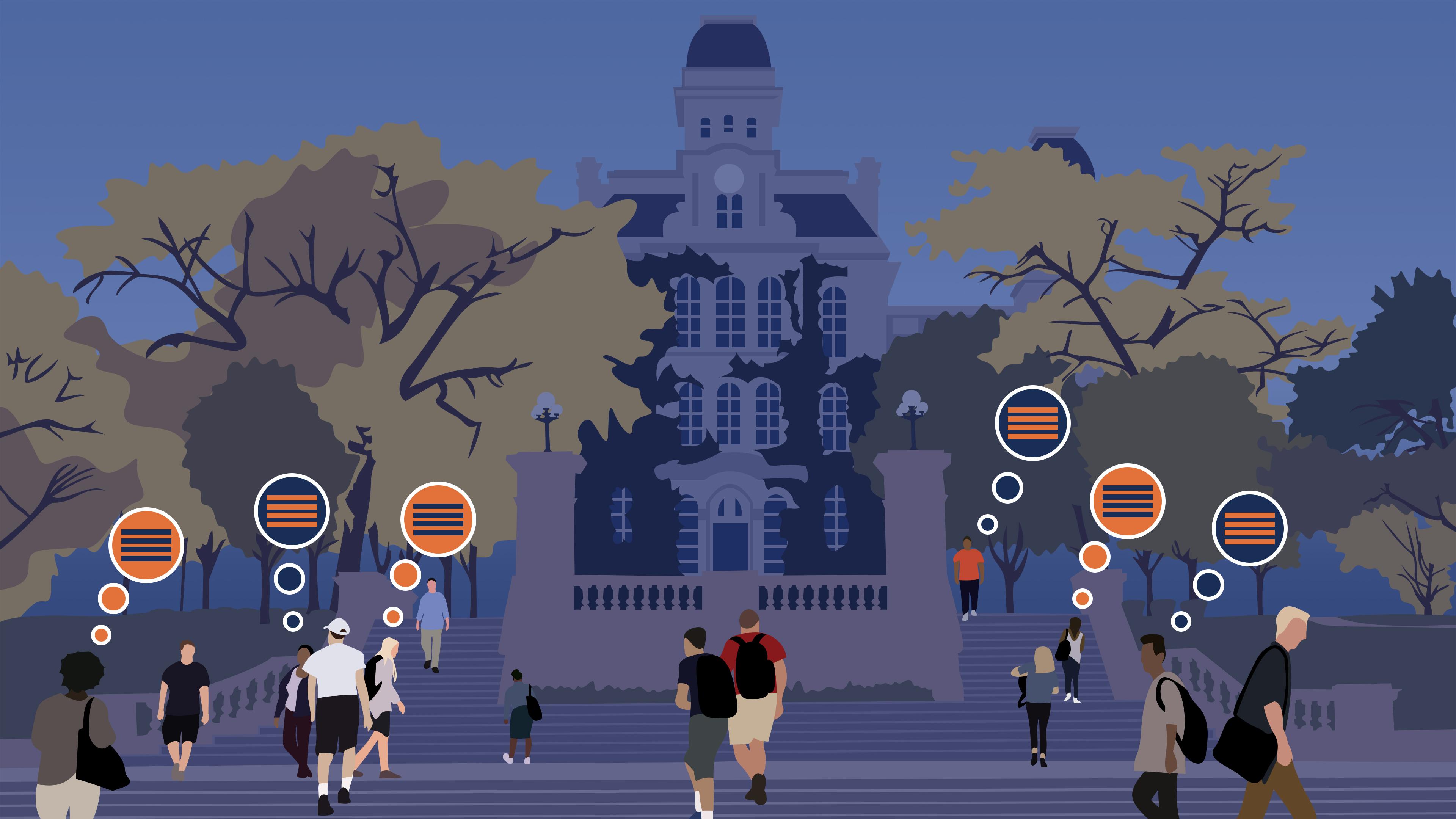 Illustration of Social Media Activism at Syracuse University