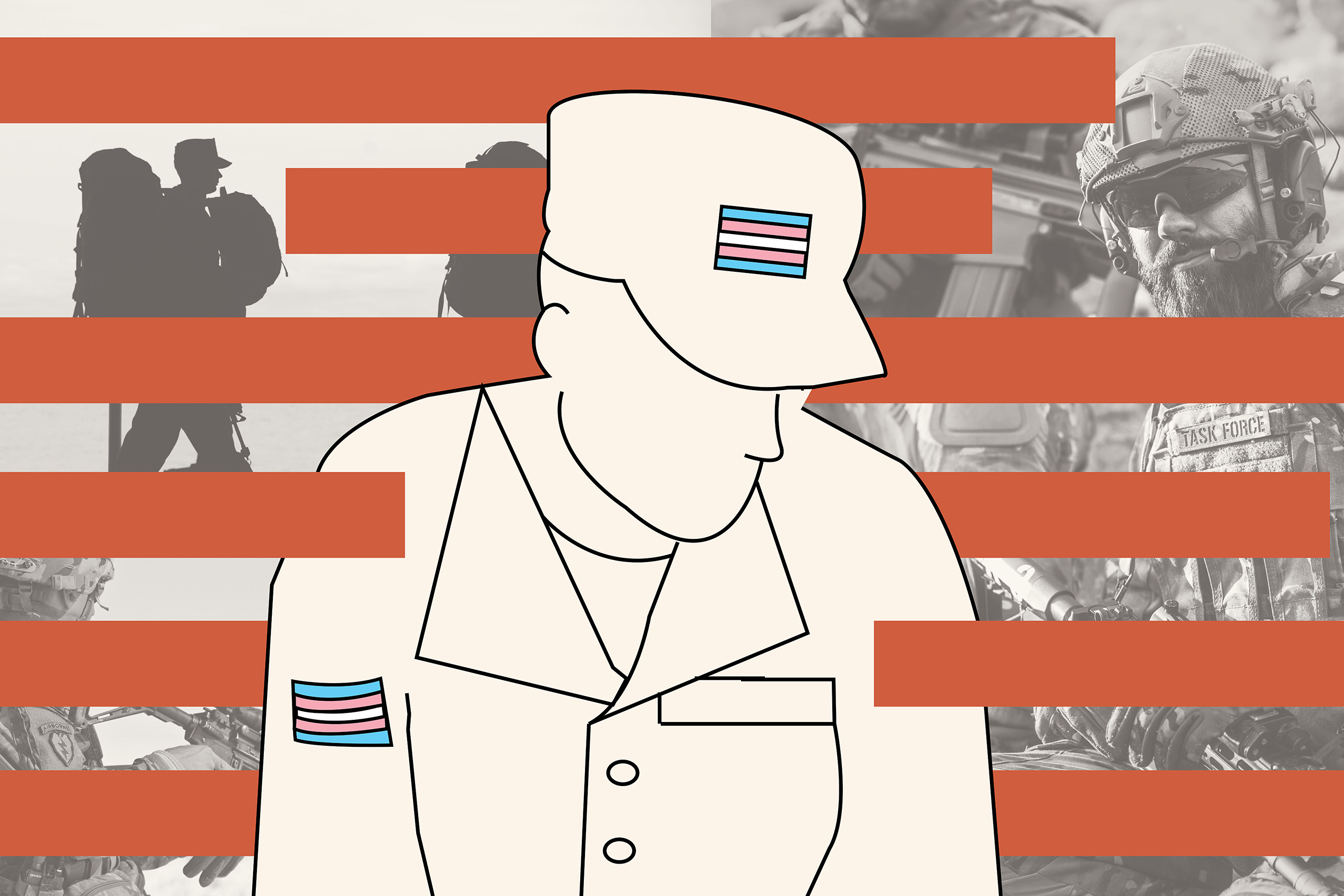 Illustration: Transgender service in the military