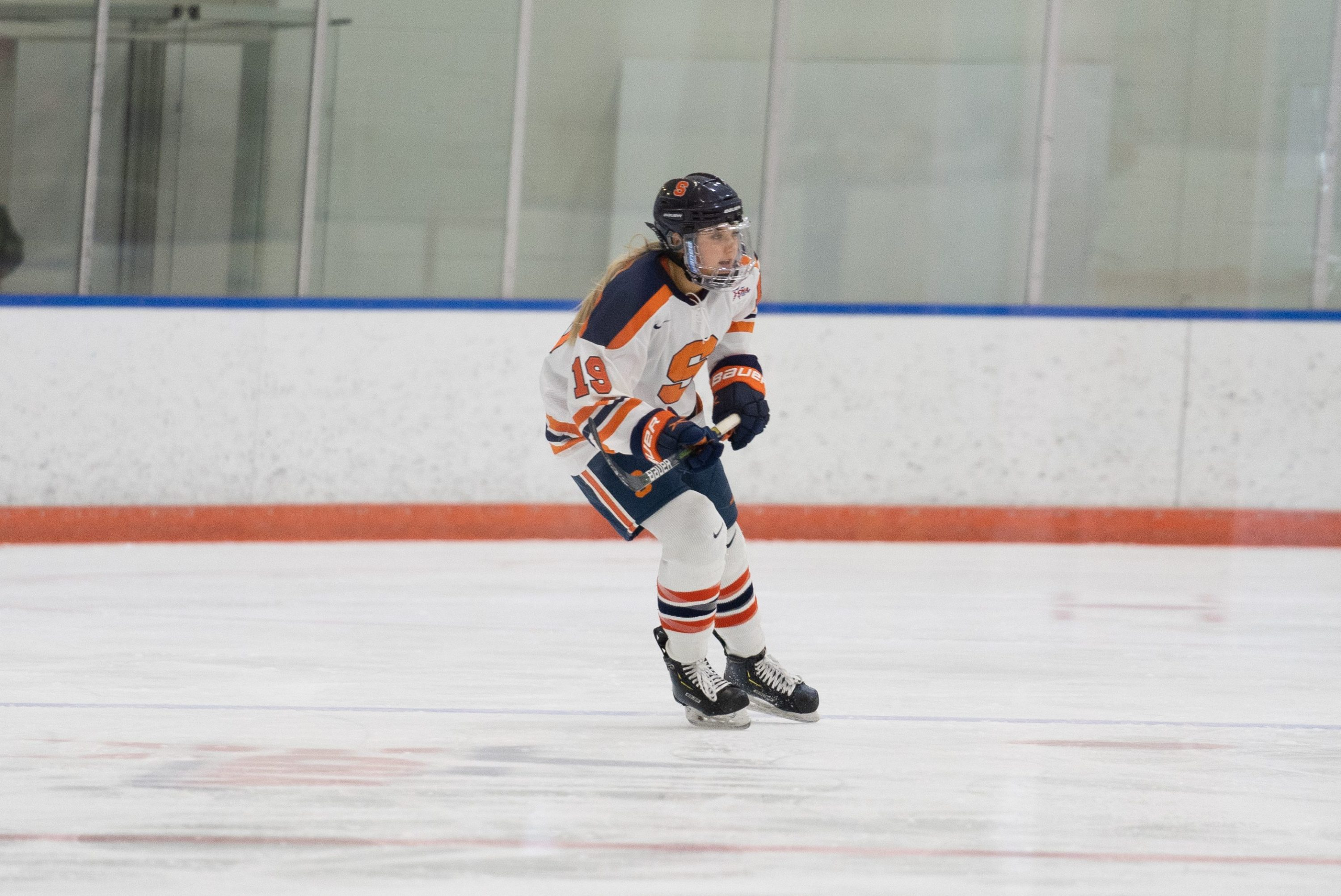 Anna Leschyshyn score three goals between two periods during a Syracuse 5-0 win over LIU on Feb. 20, 2021.