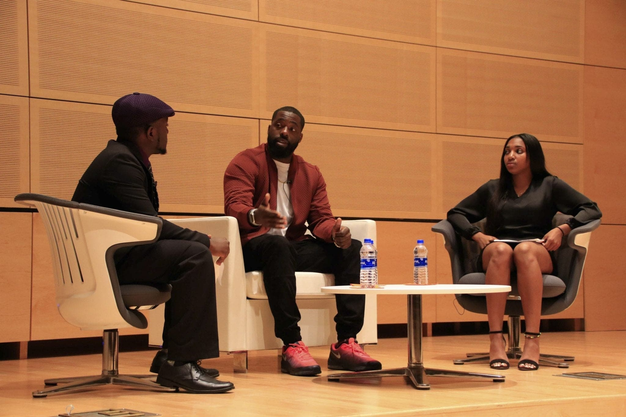 Former NFL athlete and activist Brian Banks speaks about his experiences at The Herg on Syracuse's campus.