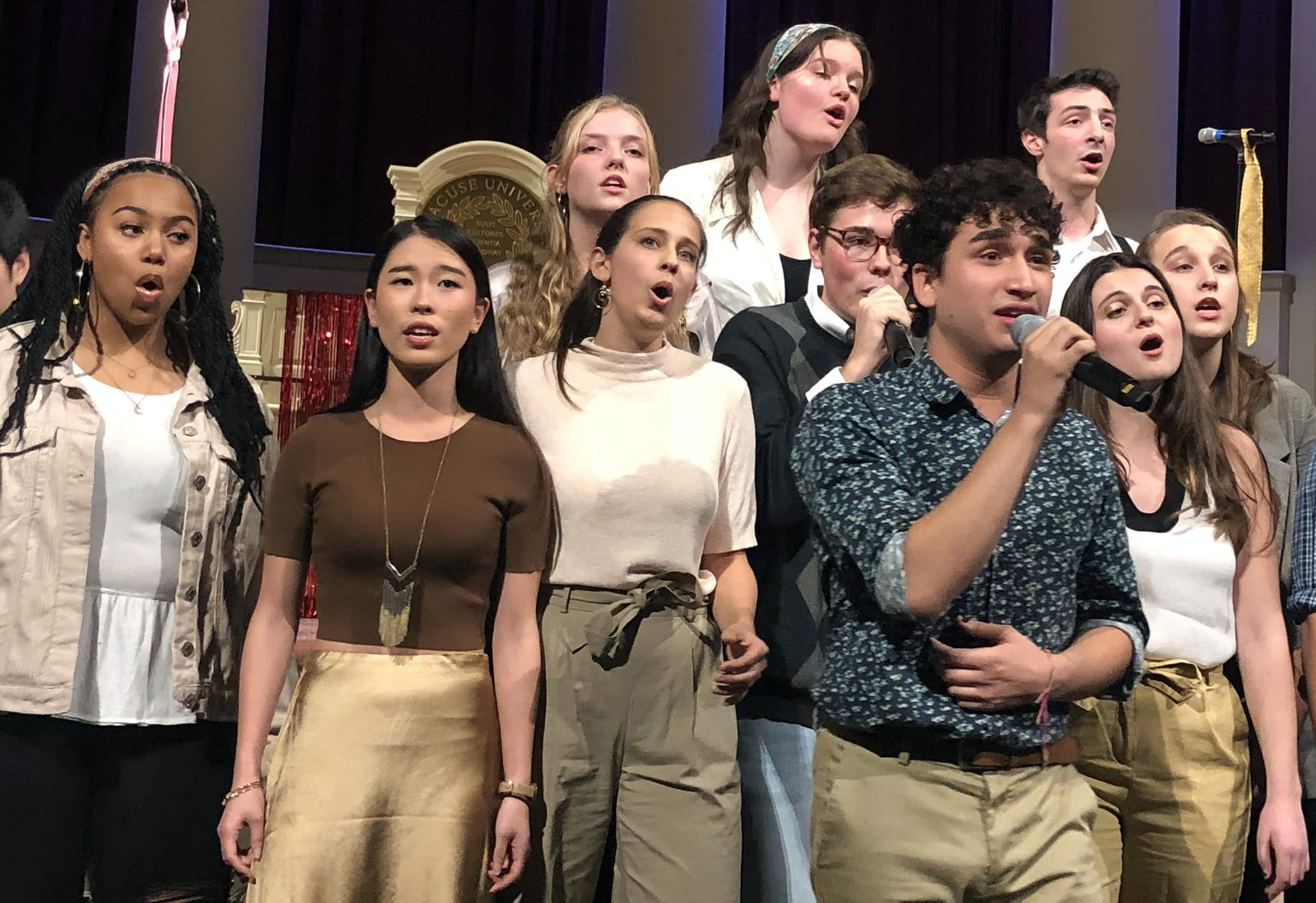 """Freshman Jeffrey Castellano gave a stand-out performance as the lead vocalist in Groovestand's cover of """"HIM"""" by Sam Smith."""