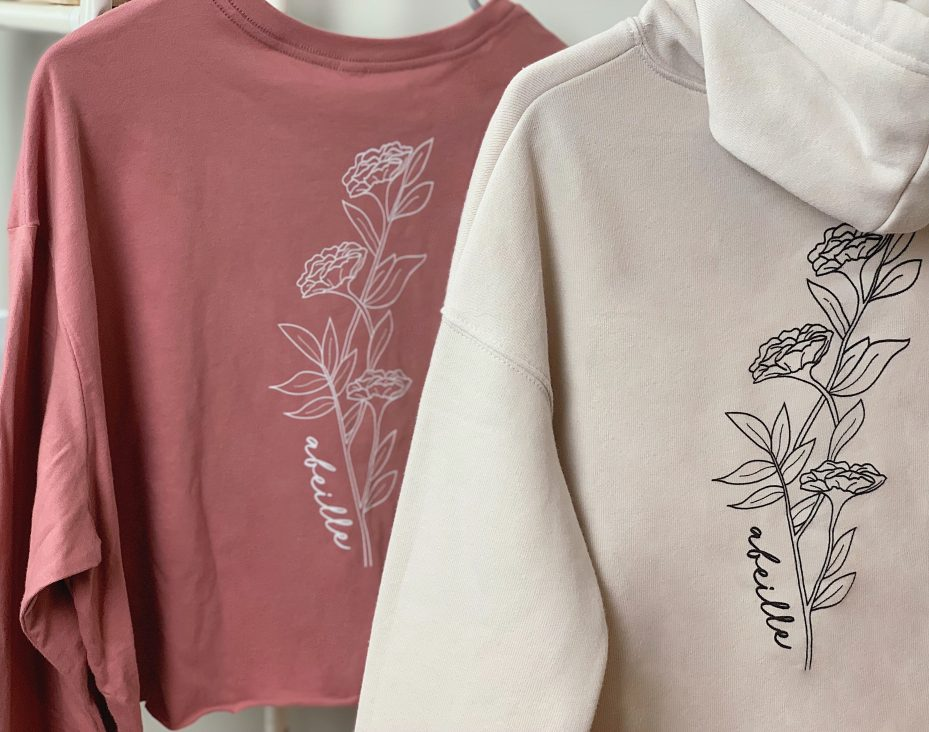 Abeille hoodie and sweatshirt