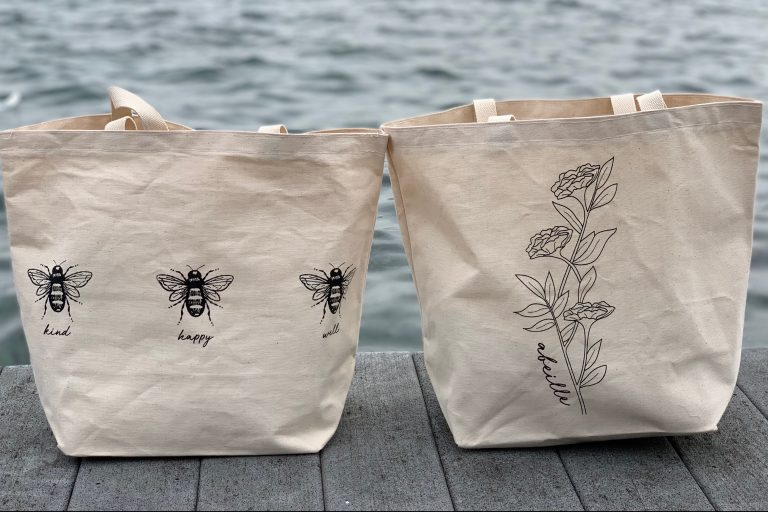 Abeille totes photo by Abbey Thurston