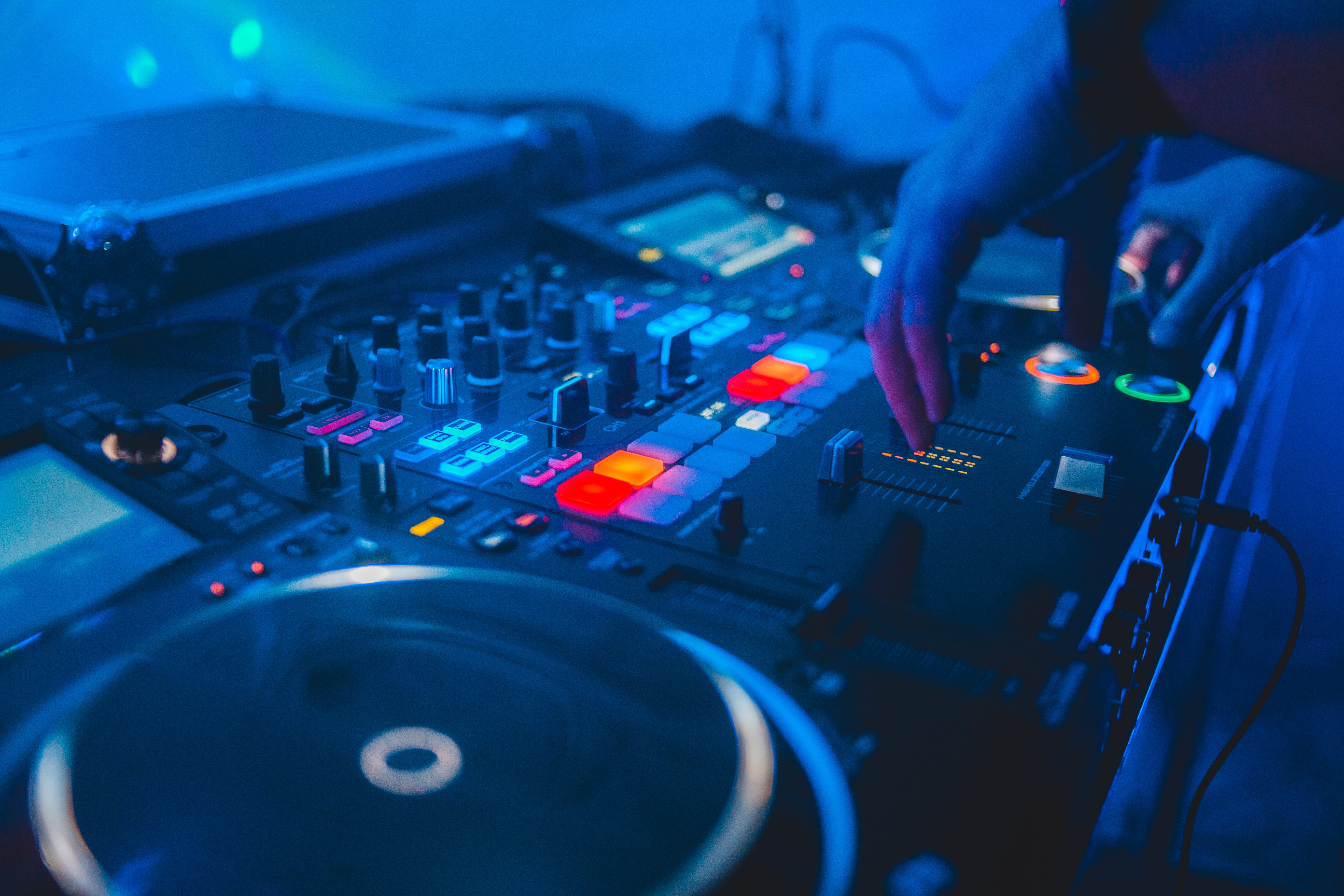 A turntable of a DJ from Stock images