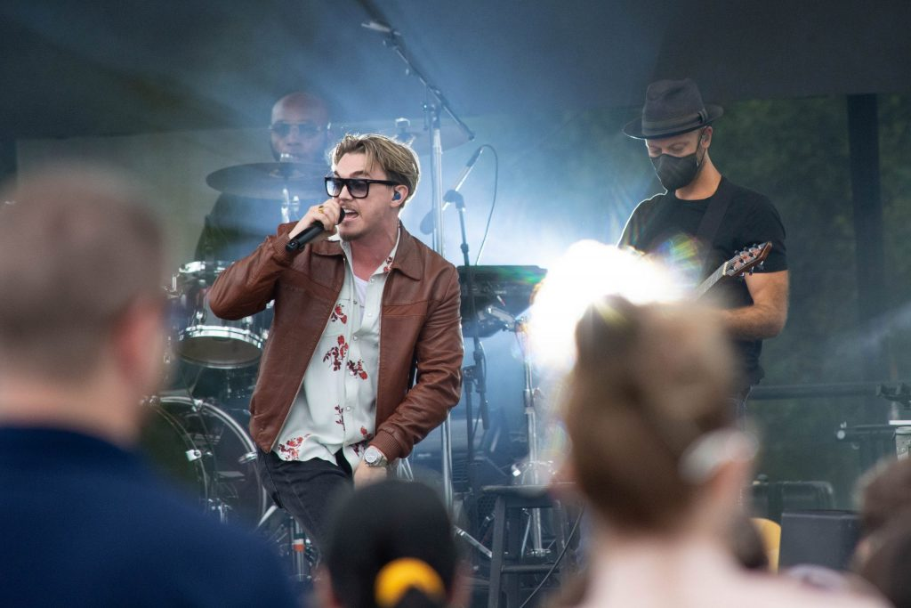 Jesse McCartney performed at the New York State Fair to a sea of fans, from young to old. He performed hit songs from the early 2000s such as